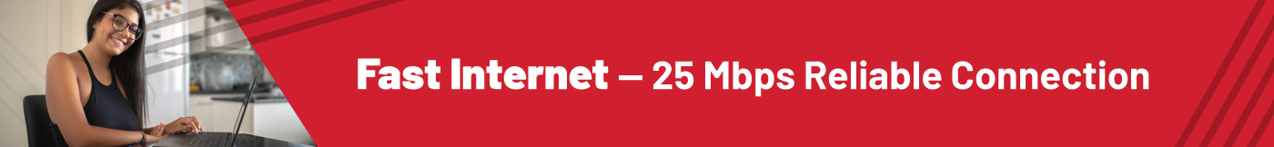 Fast internet reliable connection